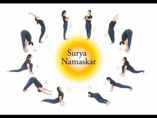 Сурья Намаскар (Приветствие солнцу). Йога для начинающих. Видео